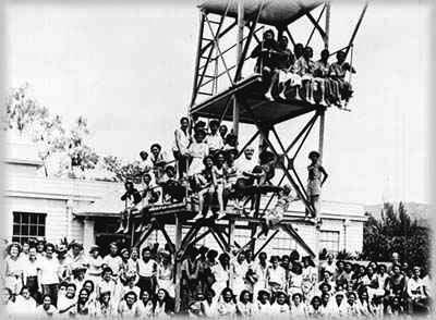 Interisland Play Day at Palama Settlement, 1938. (Palama Settlement Archives photo.)