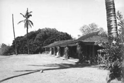 George I'i Brown, Jr. family home in Waipi'o Peninsula, 'Ewa, O'ahu, 1998. (COH photo)