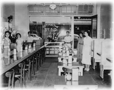 New Capitol Café, 1938. (Photo courtesy Margaret Umeno Uyehara.)